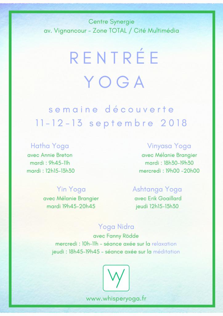 Rentrée Whisper Yoga